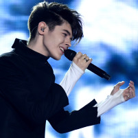 "Kristian Kostov sings ""Beautiful Mess"" for Bulgaria during the second semifinals for the 62nd Eurovision Song Contest (ESC) in Kiev, Ukraine, 11 May 2017. The Ukrainian capital is the host of this year's Eurovision Song Contest. The finals will be on the 13th of May. Photo: Julian Stratenschulte/dpa"